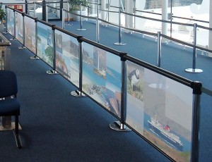 Q-Banner Airport Vinyl Custom Retractable Belt Stanchion Ad Banners