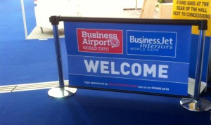 Q-Banner Custom Advertising European Airport