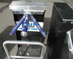 rent portable turnstiles