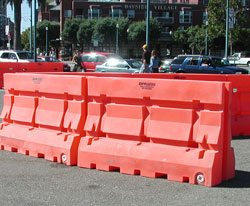 Rent Plastic Jersey Barrier in San Francisco