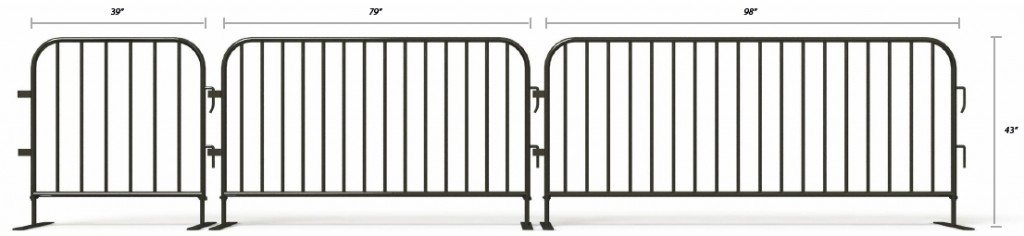 Steel barrier sizes for rent